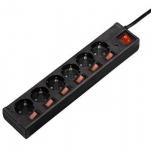 Hama Мережевий фільтр з окремими вимикачами кожної розетки [00121946]
