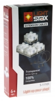 LIGHT STAX Кабель Expansion в комплекті з 4-ма LED элементами 2х2 Transparent LS-S11101