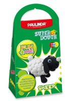 PAULINDA Маса для ліплення Super Dough Fun4one Вівця (рухливі очі)