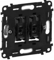 Legrand выключатель 2-клавишный автоматические клеммы, Valena IN'MATIC