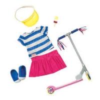 Our Generation Набір одягу для ляльок Deluxe з самокатом і аксесуарами