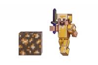 Minecraft Ігрова фігурка Steve in Gold Armor серія 3