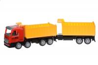 Same Toy Машинка інерційна Super Combination Самоскид (червоний) з причепом