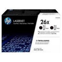 HP 26X 2-pack High Yield Black Original LaserJet Toner Cartridges