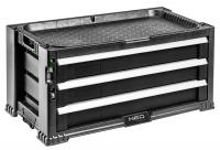 Neo Tools 84-227 Шкаф инструментальный, 3 ящика, ручки, 24 контейнера, блокировка, место для замка