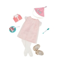 Our Generation Набір одягу для ляльок Deluxe для Дня народження з аксесуарами