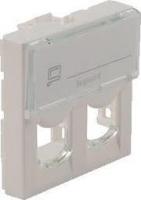 Legrand Лицевая панель для коннектора 2хRJ45 Keystone