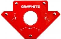 Verto Cварочный угольник магнитный GRAPHITE 56H903, 122 x 190 x 25 мм, угол 45 или 90 град., сила 34 кг