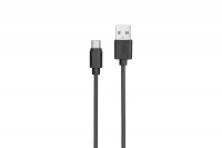 Kit: USB 2.0 to Micro USB cable, 1A, black, 1m