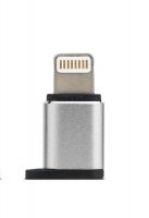 Remax Visual MicroUSB to Lightning, silver