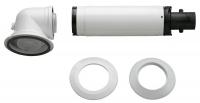 Bosch Коаксиальный гориз. комплект AZB 916: отвод 90° + удлинитель 990 - 1200 мм, диаметр 60/100 мм