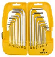 Topex 35D953 Ключi шестиграннi HEX i Torx, набiр 18 шт.*1 уп.