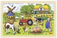 goki Пазл дерев'яний Ферма містера Міллера