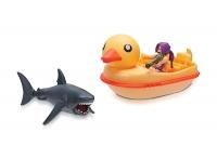 Roblox Игровая коллекционная фигурка Feature Vehicle SharkBite: Duck Boat W2