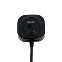 Remax Концентратор FONYE 4 порта USB 3.0, black