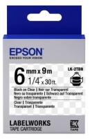 Epson LK2TBN для LW-300/400/400VP/700 Clear Blk/Clear 6mm/9m