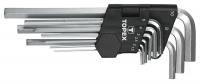 Topex 35D956 Ключi TOPEX шестиграннi HEX 1.5-10 мм, набiр 9 шт.*1 уп.