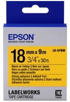 Epson LK-5YBW для LW-400/400VP/700 Strng adh Blk/Yell 18mm/9m