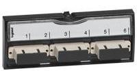 Legrand Оптическая вставка SC на 6 многомодовых волокон, LCS2