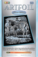 Sequin Art Набір для творчості ARTFOIL SILVER Zebra and Foal