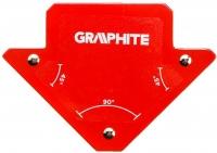 Verto Cварочный угольник магнитный GRAPHITE 56H901, 82 x 120 x 13 мм, угол 45 или 90 град., сила 11.4 кг