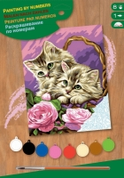Sequin Art Набір для творчості PAINTING BY NUMBERS JUNIOR Floral Kittens
