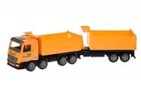 Same Toy Машинка інерційна Super Combination Самоскид (жовтий) з причепом