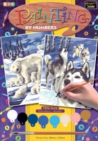 Sequin Art Набір для творчості PAINTING BY NUMBERS JUNIOR-PAIRS Winter Wildlife