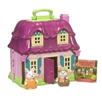 Li`l Woodzeez Игровой набор - Цветочный дом и Семья Кроликов