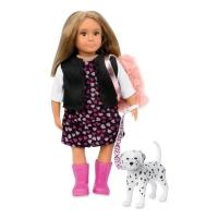 LORI Лялька (15 см) Гіа з собакою Далматинець