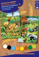Sequin Art Набір для творчості PAINTING BY NUMBERS JUNIOR-PAIRS Woodland Animals