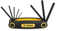 Topex 35D958 Ключi шестиграннi HEX 1.5-6 мм, набiр 8 шт.