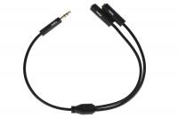 2E Розгалуджувач для навушників Adapter 3.5мм jack x2, чорний