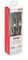 Ednet Кабель аудио (RCA-Mx2) Stereo Cable 1.5м