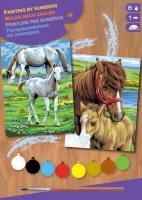 Sequin Art Набір для творчості PAINTING BY NUMBERS JUNIOR-PAIRS Horses