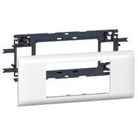 Legrand Супорт для монтажу з кришкою 65мм, 4 модулі, білий, DLP