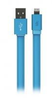 Kit: Fresh LED USB-Lightning data/charge cable 1m, MFI, Blue