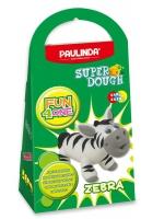 PAULINDA Маса для ліплення Super Dough Fun4one Зебра (рухливі очі)