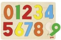 goki Пазл-вкладиш Цифри 0-9