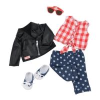 Our Generation Набор одежды для кукол  Deluxe - Стильный кожаный жакет