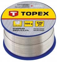 Topex 44E532 Припiй олов'яний 60%Sn, проволока 1.0 мм,100 г