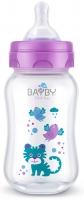 Bayby Пляшечка для годування 250мл 0м+ фіолетова