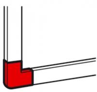 Legrand Плоский угол к мини-каналу 40x16мм, DLP-S