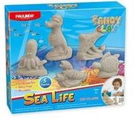 PAULINDA Пісок для творчості Sandy clay Морське життя-тварини 300г 5 од.
