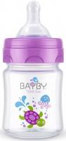 Bayby Пляшечка для годування 120мл 0м+ фіолетова