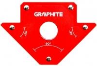 Verto Cварочный угольник магнитный GRAPHITE 56H902, 102 x 155 x 17 мм, угол 45 или 90 град., сила 11.4 кг