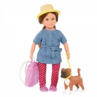 LORI Лялька (15 см) Надін і собака боксер Наш