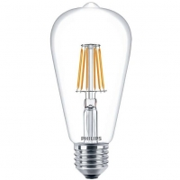 Philips LED Fila ND E27 7.5-70W WW 230V ST64 1CT APR