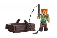 Minecraft Колекційна фігурка Alex with Boat серія 3