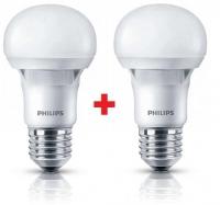 Philips LEDBulb E27 7-60W 230V 3000K A60 Essential (1+1)